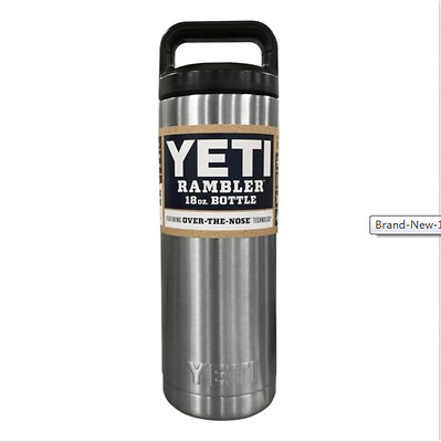 YETI 18oz Rambler Stainless Steel Double Wall Insulated Thermal Bottle Tumbler