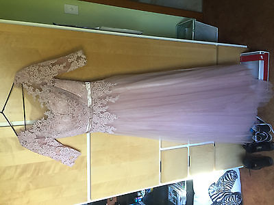 Stunning Unique Ball Gown or Bridal Dress Size 14 Dusky Pink