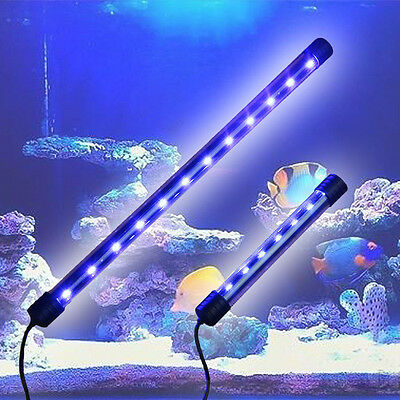 Aquarium Fish Tank 20/40 LED Light Submersible Waterproof Bar Strip Lamp EU Plug