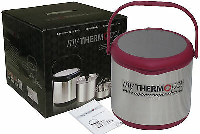 6L My Thermo Pot Thermal Thermopot Magic Camping Caravan Slow Cooker - Red