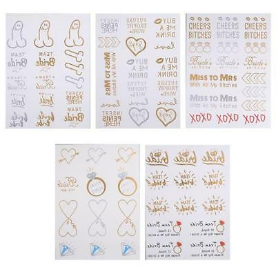 BRIDE TO BE Team Bride, Hen Party Metallic Gold & Silver Tattoos Over 80 TATTOOS