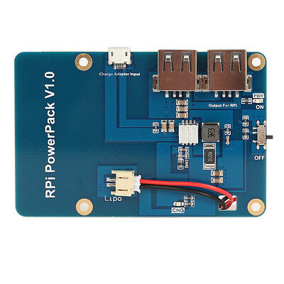 For Raspberry pi Pi3 lithium extension board Dual USB output Mobile power supply