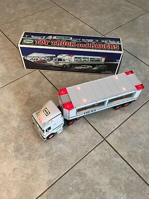 1997 Hess Toy Truck And Racers With Box And Packaging Included