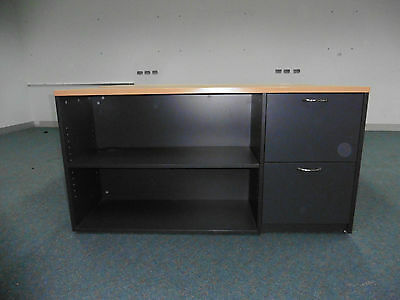 Office 1200Mm Or 1400Mm Beech/charcoal Credenza Brisbane