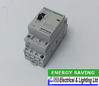 Schneider 25 Amp 3 Pole Contactors 230V Coil 3 X Normally Open Contacts (S199)