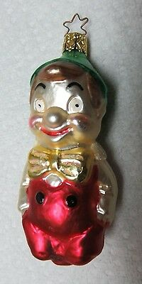 Blown Glass Christmas Elf Vintage Ornament Made in Germany
