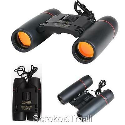 30 x 60 Zoom Day Night Vision Binoculars Outdoor Travel Folding Telescope Bag