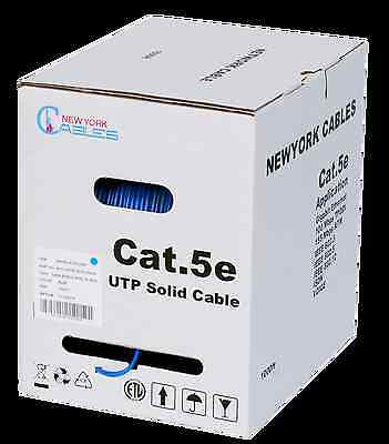 Cat 5 1000ft Plenum Cat5e 305m 4-Pairs 24AWG 1000 ft Cable Blue