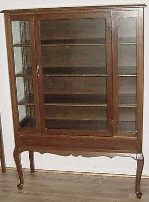 Vintage Three Shelf Antique Store Display Cabinet