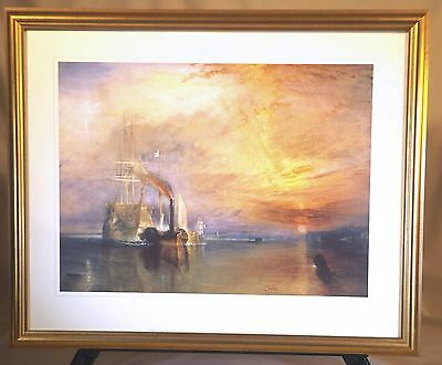 """JMW Turner - The Fighting Temeraire, - Framed Print - Glass Size 24""""x19"""""""