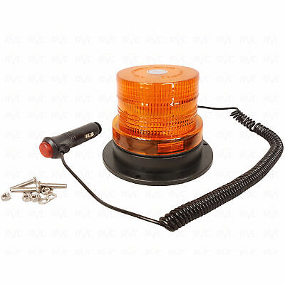 Amber LED BEACON Magnetic / Bolt 12/24V 12/24v Flashing Warning Strobe Light