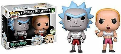 "Damaged Box Sce Exclusive Rick & Morty Buff Rick / Buff Summer 3.75"" Pop Vinyl"