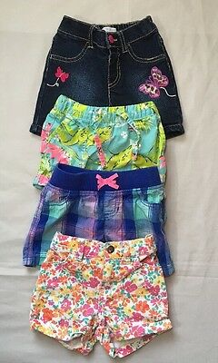 Lot of 4 Pairs of Toddler Girls Shorts Size 3T-EUC-Carter's, Children's Place