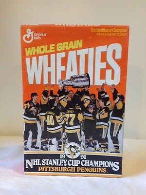 Wheaties Collectible Box - Pittsburgh Penguins 1991 Stanley Cup