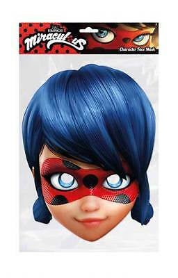 Ladybug from Miraculous Single 2D Card Party Face Mask cat noir Dupain-Cheng