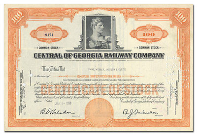 Central of Georgia Railway Company Stock Certificate