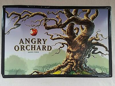 "Angry Orchard Hard Cider 17.5"" X 11.5"" Embossed Metal Tin Sign"