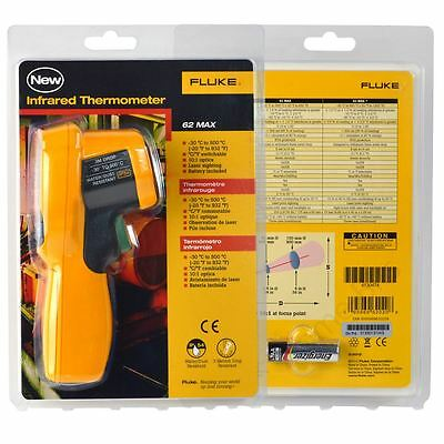Fluke 62 MAX IR Infrared Thermometer Thermal Temperature Reader New
