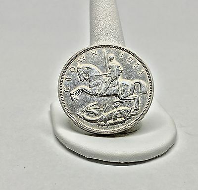 Great  Britain Uk 1935 1 Crown Silver Coin*
