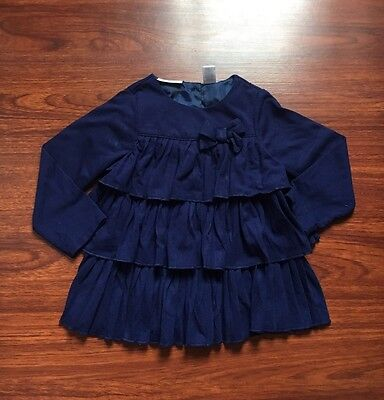 First Impressions Baby Girl Long Sleeve Ruffled Top Shirt Size 18 Months