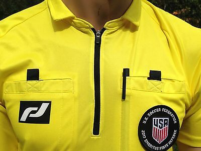 Soccer Ref jersey. NEW (2019) USSF PRO TRULY THE BEST quality. FREE badge holder