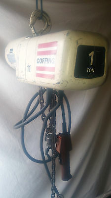 Coffing 1 Ton Electric Chain  Hoist / 3 Phase 10Ft Lift Model Elc 2016-3