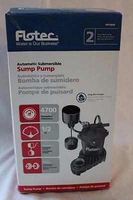 Flotec FPCI5050 Submersible Cast Iron and Zinc Sump Pump 1/2 HP NEW!!