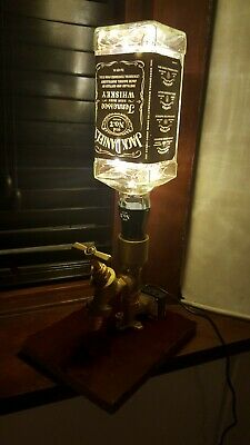 Steampunk Jack Daniels Brass Touch Lamp Light Industrial Victorian Pipe Vintage