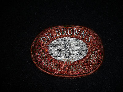 "Dr. Brown's ""The Original Cream Soda"" Patch 1960's Original"