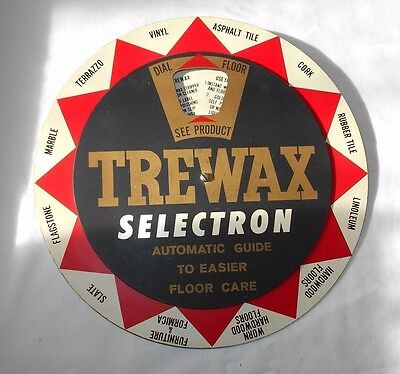 Trewax Selectron      Store Display      Floor Products Advertising      Vintage