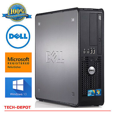 Dell Desktop Computer PC Core 2 Duo 3.0Ghz 4GB RAM up to 1TB DVDRW Windows 10