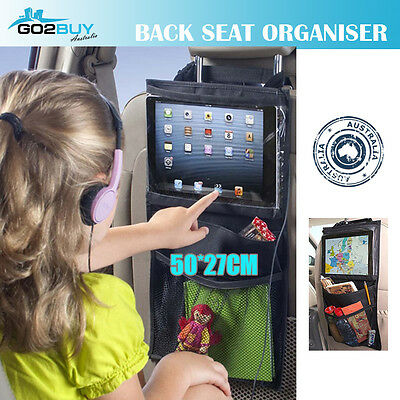 Back Car Seat Hanging Organizer iPad Holder Storage Waterproof Travel Bag Pocket