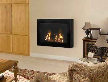 Anywhere Indoor Wall Mount Fireplace-Soho Black