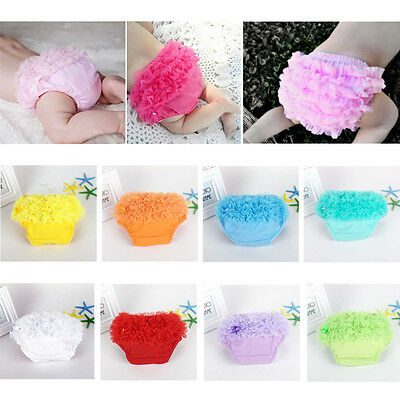 Baby Toddler Girl Ruffle Bottoms Bloomers Pants Diaper Nappy Cover Panties 3-24M