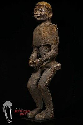 VERY Large, Old Makonde Male Figure—Great Facial Scarifications