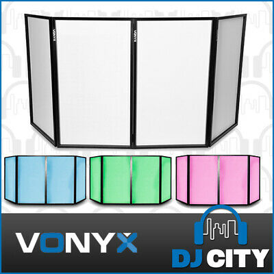 Vonyx DJ Screen 4-Panel DJ Booth Facade Party Lighting Privacy Screens