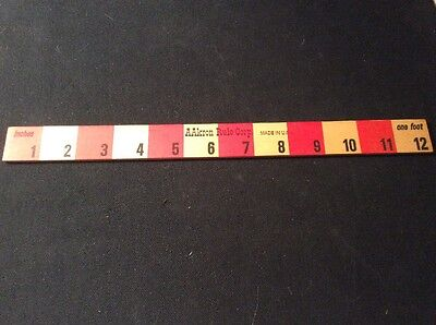 Vintage 12 Inch Wood Advertising Ruler Akron Oh - Aakron Rule Corp