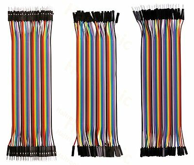 Haibotic 120pcs 20cm pure copper dupont cable/Jumper Wires Multicolored10 color