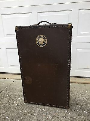 Vintage/antique Everwear Steamer Travel Trunk Wardrobe Chest Havana Cuba