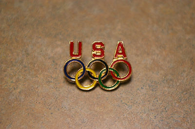 Original 'u.s.a. Olympic Rings' Metal Enamel Pin