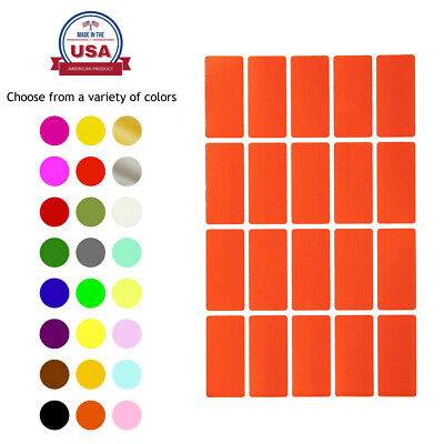 Colored Rectangular Labels 1.57 Inch x 0.75 Inch Stickers For Marking 100 Pack