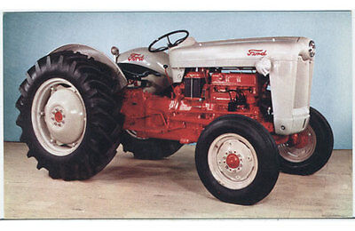 """PZad Series 800 """"Red Belly"""" Ford Tractor 50s Advertising Postcard"""
