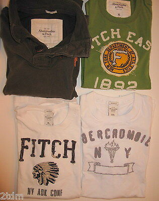 Used Mens Lot of 3 ABERCROMBIE Shirts 1 long sleeve and 2 short sleeve size XL