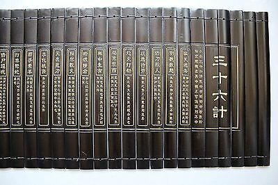 Chinese Classical Bamboo Scroll Slips famous Book of Thirty-Six Stratagems