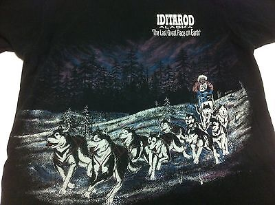Vintage 1993 Alaska Iditarod Dog Sled Race - Last Great Race On Earth T-Shirt L