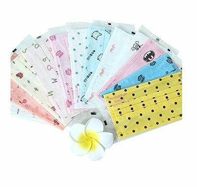 3 Layer Cartoon Printed Non-woven Fabric Disposable Surgical Dust Filter Ear...