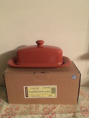 Longaberger Butter  Dish- Spice