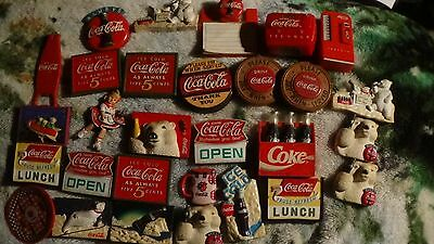 Lot of 29 Coca Cola Magnets.Refrigerator,etc. FREE SHIPPING