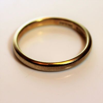 Wartime Ration 9ct Yellow Gold 2.5mm Wedding Band Ring Size K ~ US 5 1/4 Utility