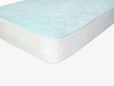 Waterproof Fitted Bamboo Crib and Toddler Mattress Protector / Pad / Cover Blue